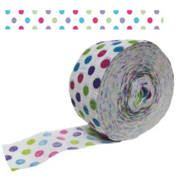 Polka Dot  Crepe Paper Roll