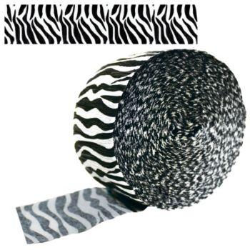 Zebra Stripe   Crepe Paper Roll