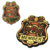 Firefighter Chief Plastic Badges-12 Pack