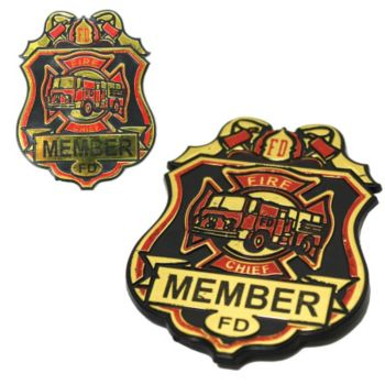Fire Chief  Plastic Badges