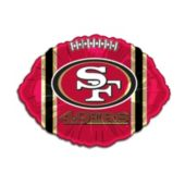 San Francisco 49ers Football Metallic Balloon -18 Inch