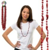 Hot Chili Pepper Bead Necklaces - 33 Inch, 12 Pack