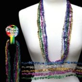 Happy Birthday Bead Necklaces - 33 Inch, 12 Pack