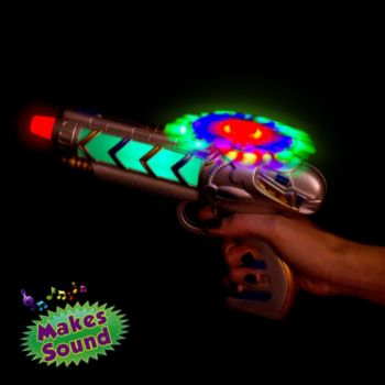 Multi-Color LED Helicopter Toy Gun with Sound