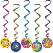 60's Whirl Decorations-5 Pack