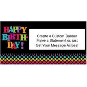 Birthday Dots Custom Banner