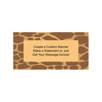 Giraffe Print Custom Banner (Variety of Sizes)