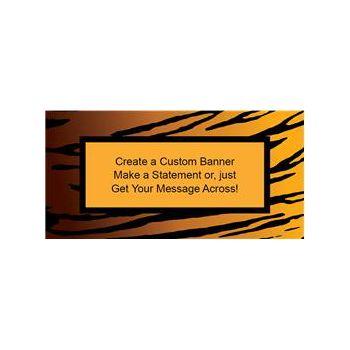 Tiger Print Custom Banner