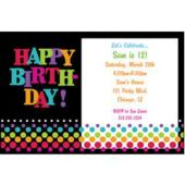 Birthday Dots Personalized Invitations