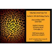 Leopard Print Personalized Invitations