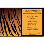 Tiger Print Personalized Invitations