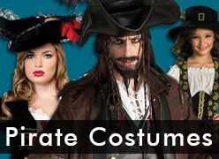 Pirate Halloween Costumes for Kids & Adults
