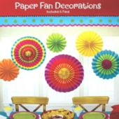 Multi Colored Fans-6 pack