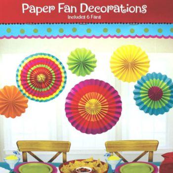 Funky Color Paper Fans