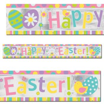 Happy Easter  Foil Banner