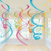 Multi Colored Swirl Decorations-12 Pack
