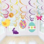 Easter Swirl Decorations-12 Pack