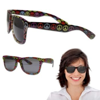 Peace Sign Blues Sunglasses