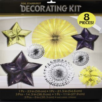 Metallic Starburst  Decorating Kit