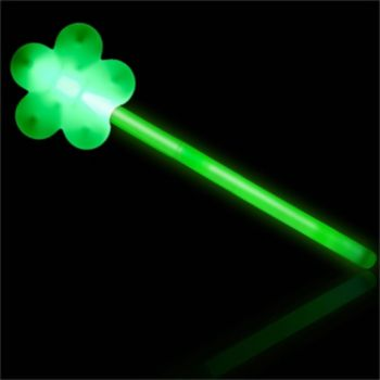 Green Shamrock Glow Wand