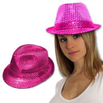 Pink Sequin Fedora