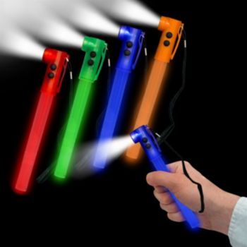 Blue LED Whistle Safety Lightstick - 8 Inch, 24 Pack