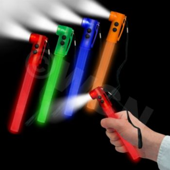 Red Light Up Safety Whistles, 24 pcs