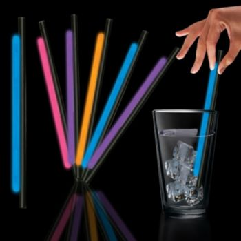 Variety Pack Glow Motion Straws - 9 Inch, 25 Pack