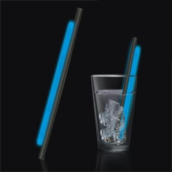 Blue Glow Motion Straws - 9 Inch, 25 Pack