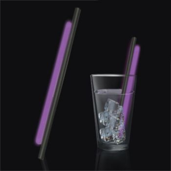 Purple Glow Motion Straws - 9 Inch, 25 Pack