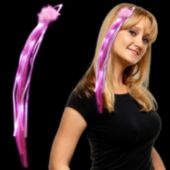 Pink LED Ribbon Fascinator - 15 Inch