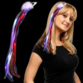 Patriotic LED Ribbon Fascinator - 15 Inch
