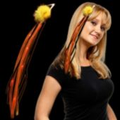 Orange LED Ribbon Fascinator - 15 Inch