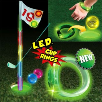 L.E.D. Green  Cup Rings