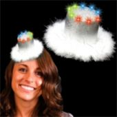 Silver Top Hat LED Fascinator