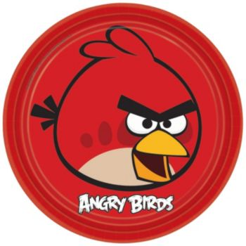 "Angry Birds  9"" Plates"
