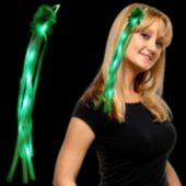 Green and White LED Hair Clip