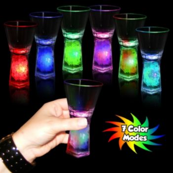 Assorted Color LED Pedestal Shot Glass - 1.5 Oz.