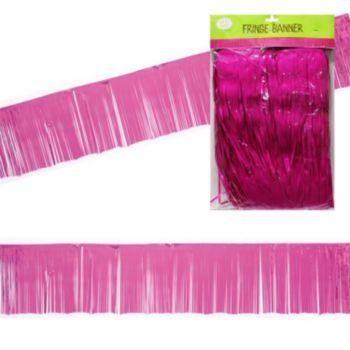 Pink Fringe Banner