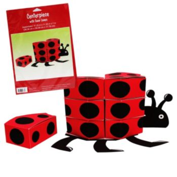 Ladybug Centerpiece with Favor Boxes