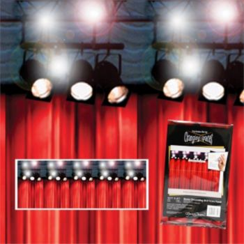 Stage Curtain with Lights Backdrop