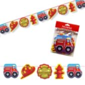 Firefighter Birthday Garland Decoration