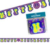 Groovy Girl Birthday Banner