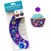 Groovy Girl Cupcake Wrappers And Toppers - 12 Pack