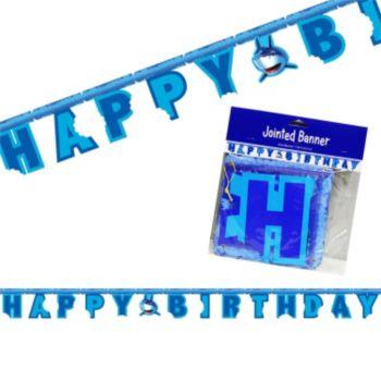 Shark Splash Birthday Banner