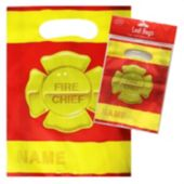 "Firefighter 9"" Loot Bags - 8 Pack"