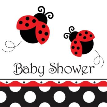Ladybug Baby Shower  Lunch Napkin