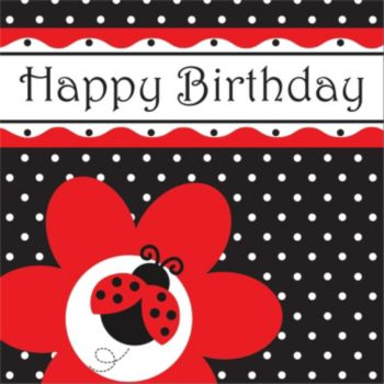 Ladybug Birthday  Lunch Napkin