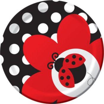 """Ladybug  7"""" Plates"""
