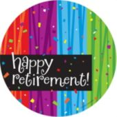 "Rainbow Celebration Retirement 7"" Plates - 8 Pack"